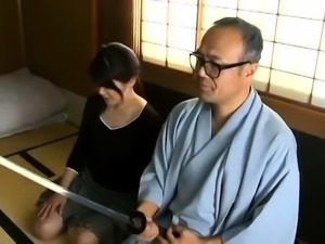 Luscious Japanese wife gets her cunt eaten out and drilled