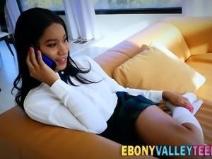 Ebony valley teen banged