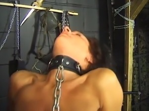 Strict master gives his slave slut some horny punishment