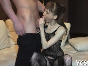 Loving stud enjoys his girl sitting on his throbbing cock