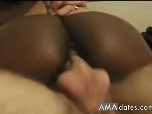 Black Hairy Pussy Fuck With Huge Cumshot