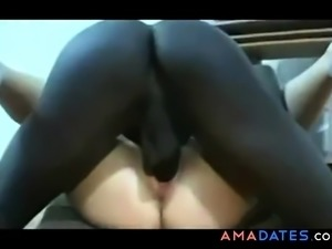 Russian girl fucked by black