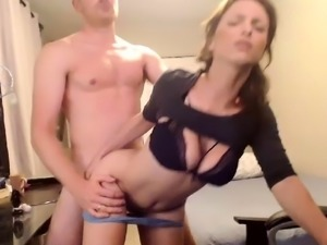 Bouncing Boobs In Hardcore Action on the bed