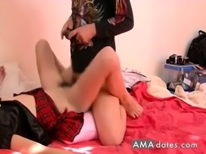 japanese slut blowjob and cowgirl