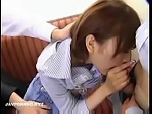 Gorgeous Japanese girl Gangbanged In Train
