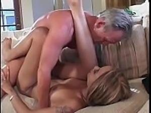 Small tits ghetto ho Misty Mason on sofa sucking and fucking a white dong