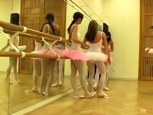 Blonde girl caught masturbating Hot ballet girl orgy