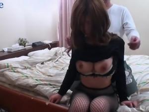 Bosomy Japanese hottie Emiri Mizusawa rides dick like no one else