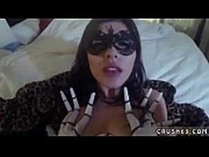 Teens try porn first time Swalloween Fun