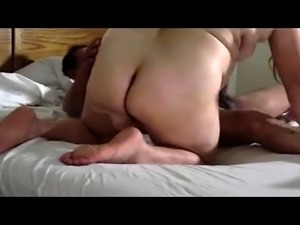 Fat mature housewife takes a big black cock for a hot ride