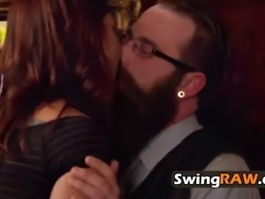 Couple verbalizes the terms and conditions to the swingers party