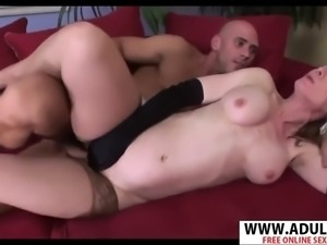 Chesty step mommy nina hartley gives blowjob sweet touching dad&#39s friend