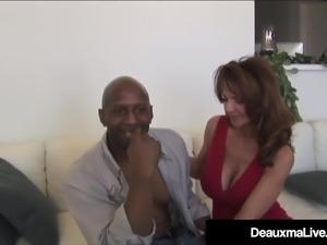 Busty Cougar Deauxma & Colombian Ariella Ferrera Fuck A BBC!