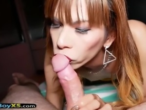 Multiple sex toys and barebacking with a thai ladyboy