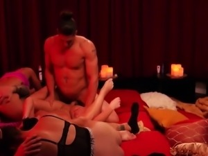 Couples play dress up and strip down
