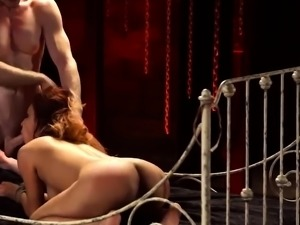 Male slave group and brunette dominates blonde Poor lil'
