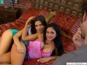 Fantastic curvy black head Audrey Bitoni gets pounded during FFM threesome
