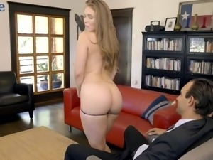 Wearing only coat busty naughty hottie Lena Paul is eager to be fucked