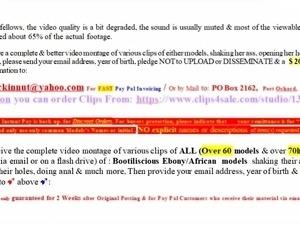 27th HARDer version of Bootiliscious Ebony-African Web Model