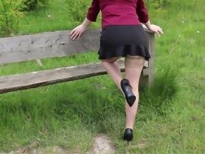 Tan stockings outdoor