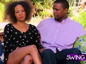 Black couple joins amateur swingers
