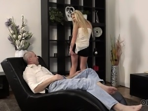 OLD4K. Young girl and her trimmed twat were ready for...
