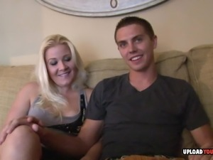 Gorgeous blonde received an oral and got fucked