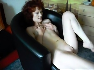 Lustful mature brunette moans with a hard cock up her ass