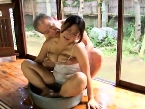Submissive Japanese wife gets pounded rough and creampied