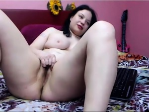 Hottest Amateur Brunette MILF has quickie sex on Webcam