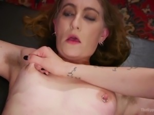 Extremely tied up submissive whore Kira Noir deserves really wild masturbation