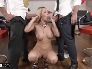 Glamkore christina shine double penetration threesome