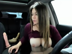 Natural boobs amateur outdoor bang