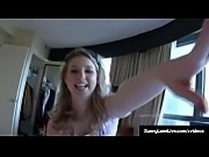 Sex Bomb Sunny Lane Blows A Cock &amp_ Rubs Her Juicy Snatch!