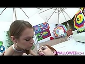 SWALLOWED Hardcore throat fucking with Sailor and Maya