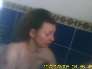Milf big tits bathtime soap up tits and cunt voyeur spycam