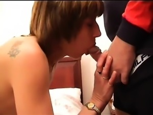 POV dick starved ex girlfriend giving blowjob in close up