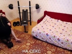 Hot russian amateur condom blowjob