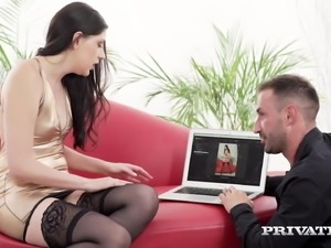 Private.com - Brunette Miranda Miller Mouth & Anal Fucks!