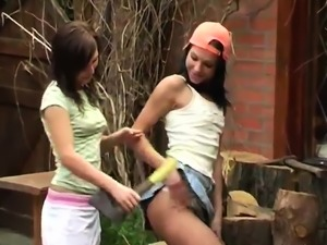 Lesbians licking and fucking xxx Cutting wood and