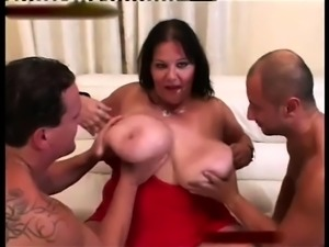 Threesome with Horny Fat BBW fuckfriend who love cock