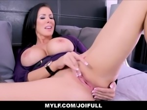 Your big tits milf step mom finds porn on your phone and masturbates with you...