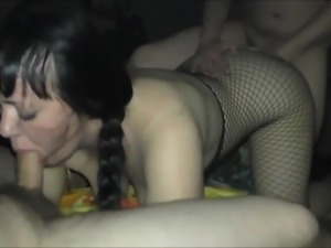 Drunk wife fucks in anal and pussy with 2 boyfriends!