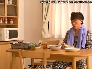 Japanese Housewife Fucking While Cooking