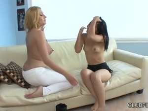 Perverted lesbian Nicole Fererra loves to feel up juicy boobs