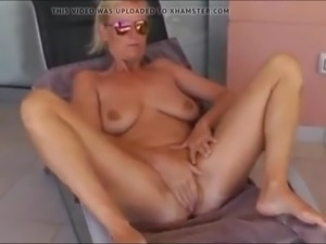 Mature milf with big saggy tits with her boss on vacation