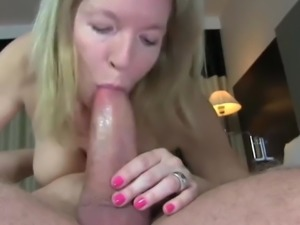 Lucky Nerdy Guy with Big Cock Fucks Horny Busty Mature