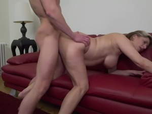 Mature mothers with big tits seduce sons