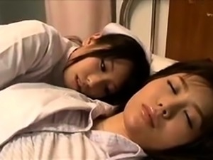 Exciting Japanese nurses in uniform enjoy wild lesbian sex