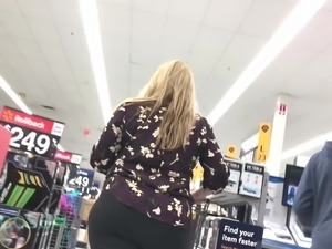Amazing Hips, Thighs and Ass on Blonde Milf